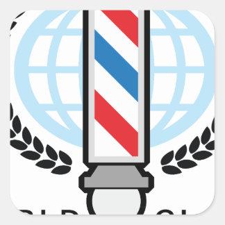 World Class Barber Shop Square Sticker