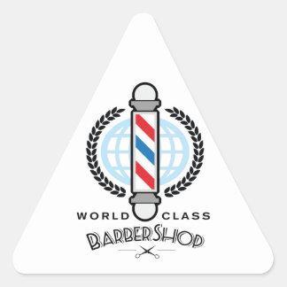 World Class Barber Shop Triangle Sticker