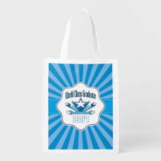 World Class Graduate Class of 2017 Graduation Reusable Grocery Bag