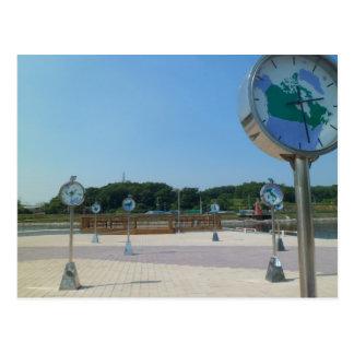 World Clocks, Korea Postcard
