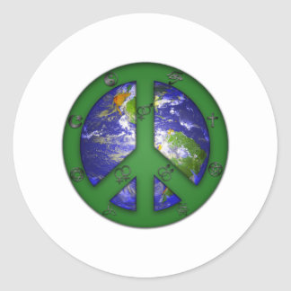 World Coexist Classic Round Sticker
