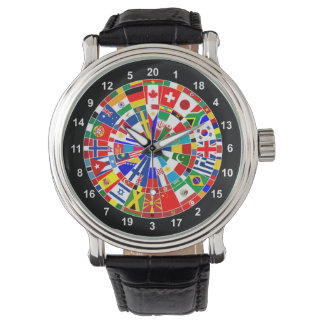 world country flag darts board game travel bulls-e wristwatches