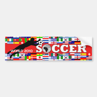 World Cup Soccer Goal Bumper Sticker Red