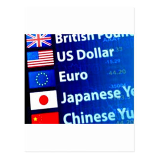 World Currency Themed Products Postcard
