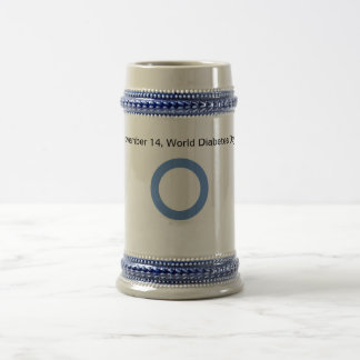 World Diabetes Day Cup 18 Oz Beer Stein