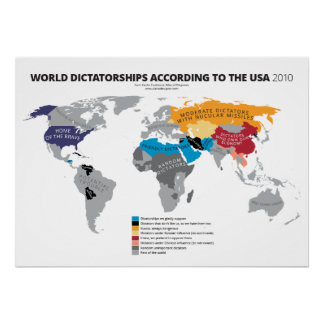 World Dictatorships According to the USA Poster