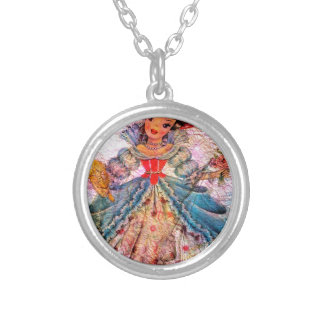WORLD DOLL FRANCE SILVER PLATED NECKLACE