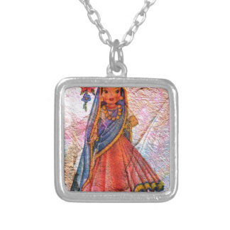 WORLD DOLL INDIA SILVER PLATED NECKLACE