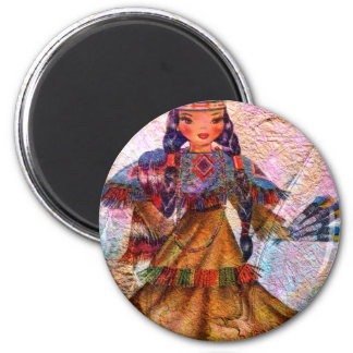 WORLD DOLL NATIVE AMERICAN MAGNET
