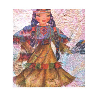 WORLD DOLL NATIVE AMERICAN NOTEPAD