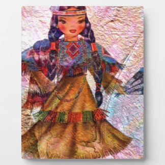 WORLD DOLL NATIVE AMERICAN PLAQUE
