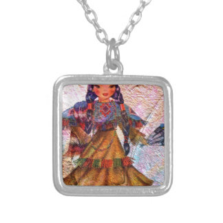 WORLD DOLL NATIVE AMERICAN SILVER PLATED NECKLACE