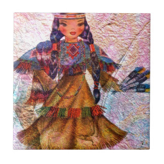 WORLD DOLL NATIVE AMERICAN TILE