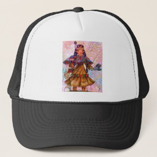 WORLD DOLL NATIVE AMERICAN TRUCKER HAT
