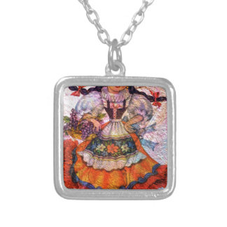 WORLD DOLL SPAIN 2 SILVER PLATED NECKLACE