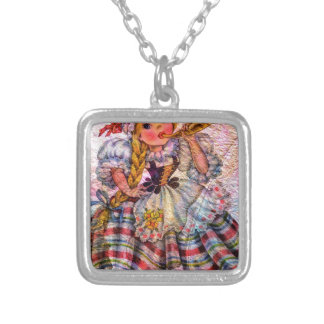 WORLD DOLL SWISS SILVER PLATED NECKLACE