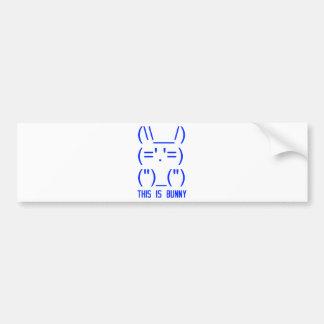 World Domination Bunny Bumper Sticker
