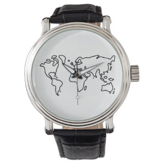 World earth map of the world of continents watch