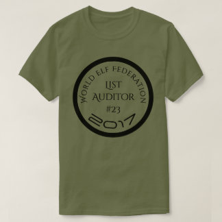 World Elf Federation Santa List Auditor 23 T-Shirt