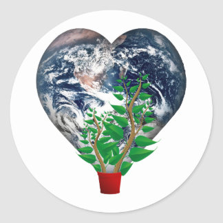 World Environment Day Classic Round Sticker