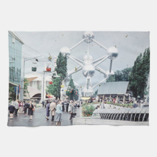World Fair Brussels 1958 Photo Kitchen Towel