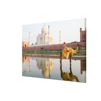 World famous Taj Mahal temple burial site at Canvas Print