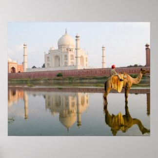 World famous Taj Mahal temple burial site at Poster