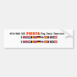 World Fiesta Flags Bumper Sticker