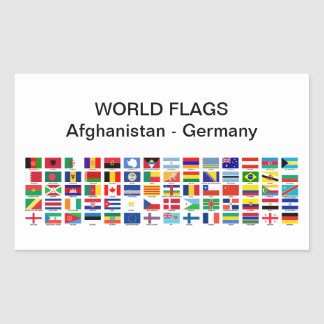 World Flags: Afghanistan - Germany Sticker
