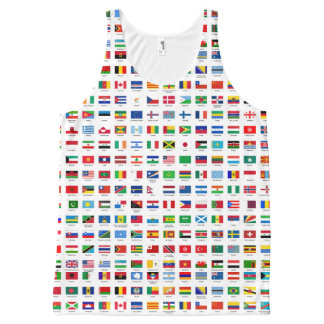 world flags All-Over-Print tank top