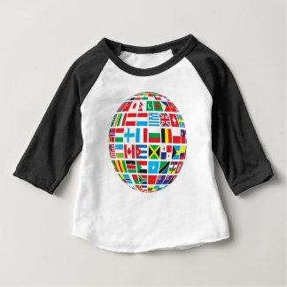 World Flags Globe Baby T-Shirt