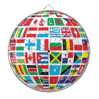 World Flags Globe Dartboard