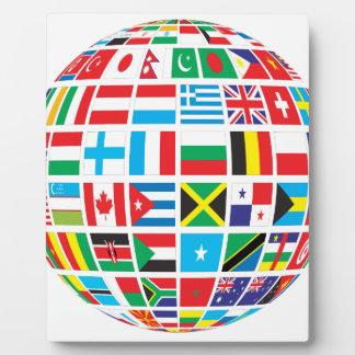 World Flags Globe Plaque