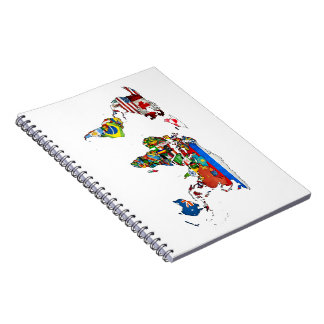 World Flags Map Notebook