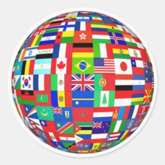 WORLD FLAGS STICKER