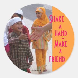 World Friendship Classic Round Sticker