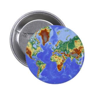 World Geographic International Map 2 Inch Round Button