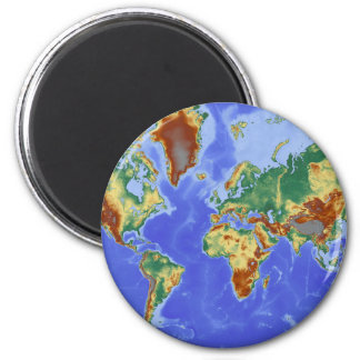 World Geographic International Map 2 Inch Round Magnet