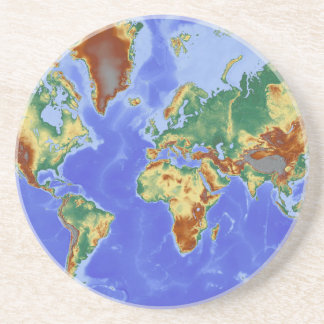 World Geographic International Map Beverage Coaster