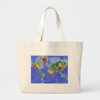 World Geographic International Map Large Tote Bag