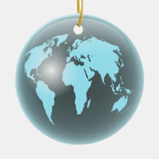 World Glass Globe Ceramic Ornament