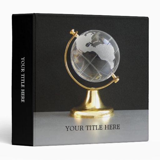 World Globe binder