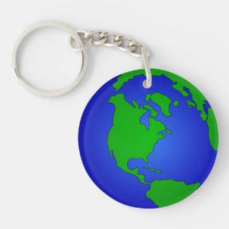 World Globe Image Key Chain