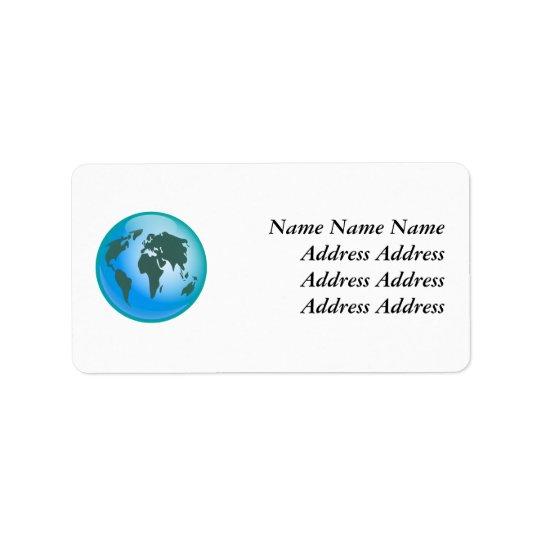 World Globe, Label