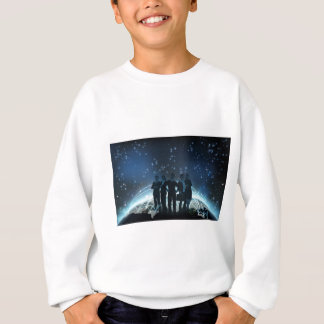 World Globe Logistics Business Team Concept Sweatshirt