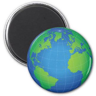 World Globe Map 2 Inch Round Magnet