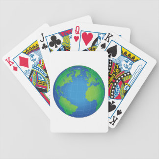 World Globe Map Bicycle Playing Cards