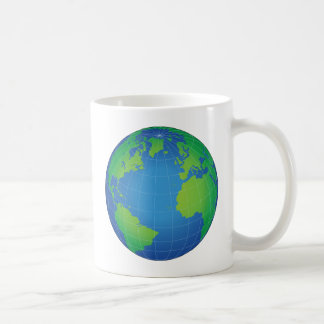 World Globe Map Coffee Mug