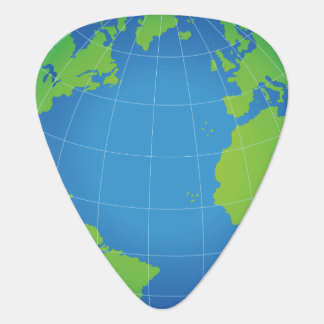 World Globe Map Guitar Pick
