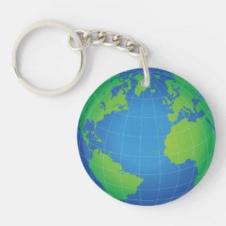 World Globe Map Keychain